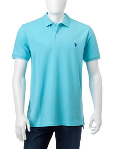 U.S. Polo Assn. Turquoise Polos
