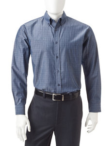 Haggar Peacoat Casual Button Down Shirts