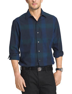 Van Heusen Green Casual Button Down Shirts