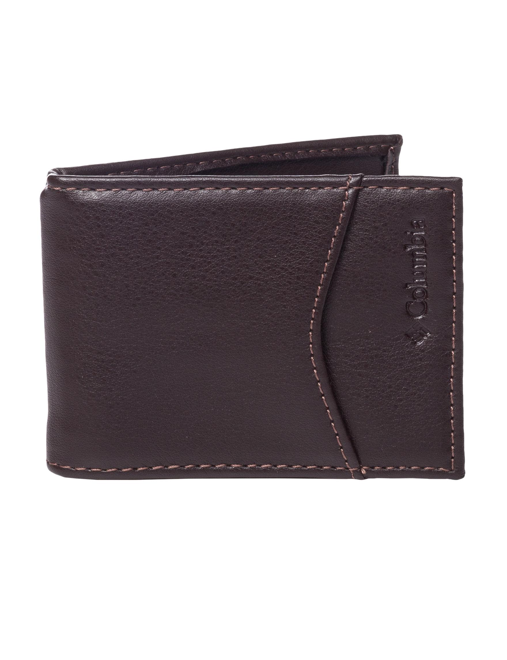 Columbia Brown Bi-fold Wallets