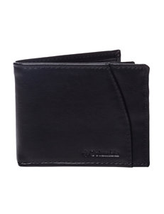 Columbia Black Bi-fold Wallets