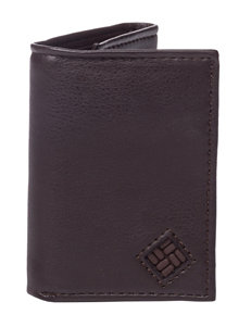 Columbia Brown Trifold Security Wallet