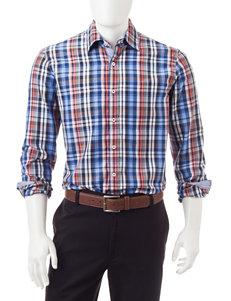 Michael Brandon Open Plaid Print Woven Shirt