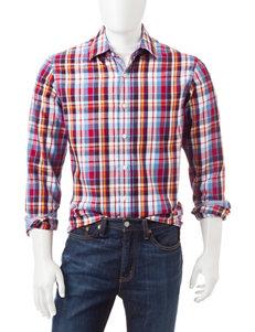 Michael Brandon Tartan Plaid Print Shirt