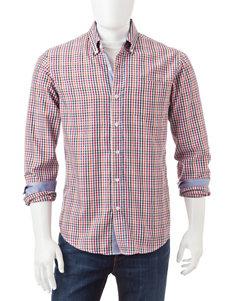 Michael Brandon Mini Check Woven Shirt