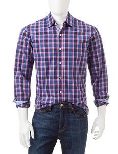 Michael Brandon Windowpane Plaid Woven Shirt