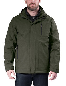 Hawke & Co. Green Fleece & Soft Shell Jackets
