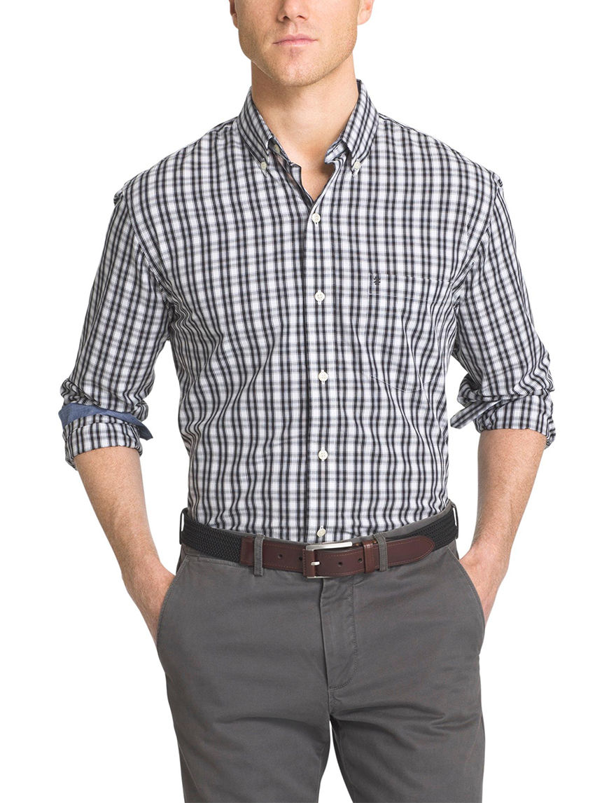 Izod big tall plaid print shirt stage stores for Izod big and tall shirts