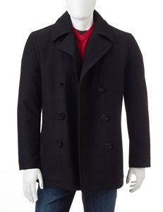 Nautica Black Peacoats & Overcoats