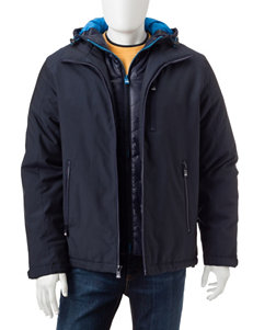 VRY WRM Navy Puffer & Quilted Jackets