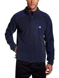 Champion Navy Fleece & Soft Shell Jackets