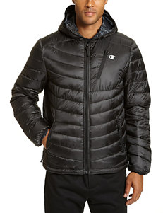 Champion Black Puffer & Quilted Jackets