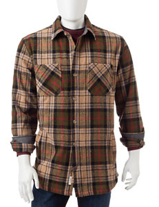 Weatherproof Multicolor Plaid Button Down Shirt