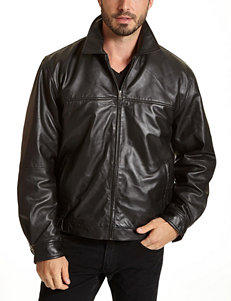 Excelled Big & Tall Moto Leather Jacket