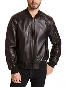 Excelled Big & Tall Genuine Leather Bomber Jacket
