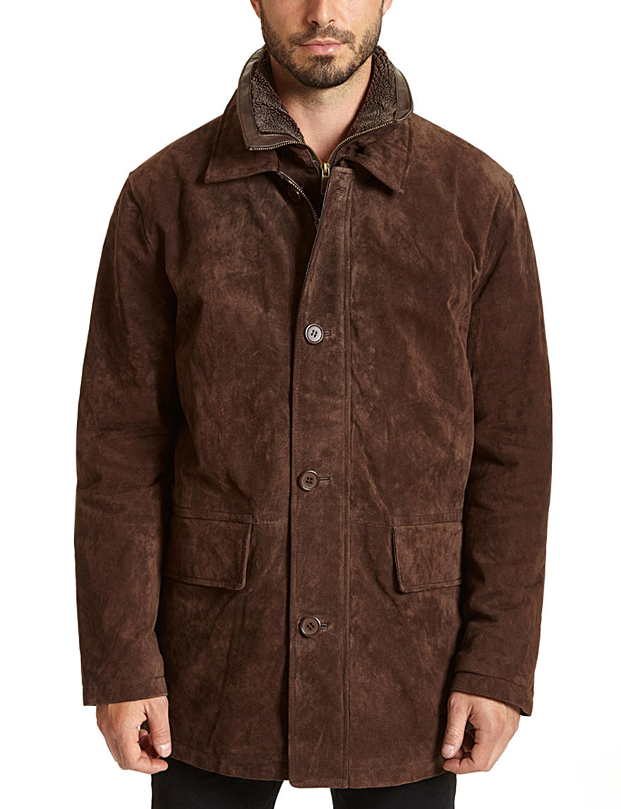 Excelled Brown Car Coats