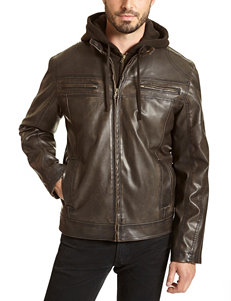 Excelled Brown Bomber & Moto Jackets