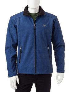 New Balance Blue Fleece & Soft Shell Jackets
