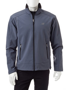 New Balance Grey Fleece & Soft Shell Jackets