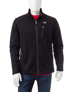 New Balance Black Fleece & Soft Shell Jackets