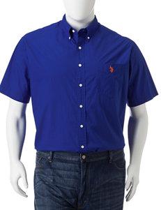 U.S. Polo Assn. Men's Big & Tall Solid Color Woven Shirt