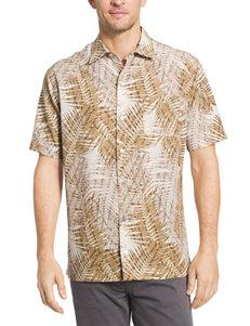Van Heusen Khaki Casual Button Down Shirts