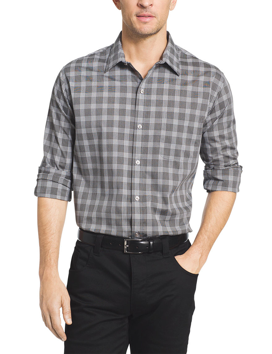 van heusen plaid print shirt stage stores
