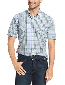 Arrow Plaid Print Woven Shirt