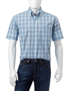 Sun River Light Blue Casual Button Down Shirts