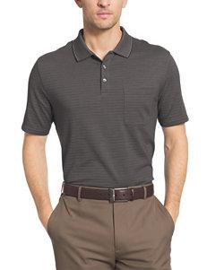 Van Heusen Luxe Stripe Jaxuard Polo Shirt