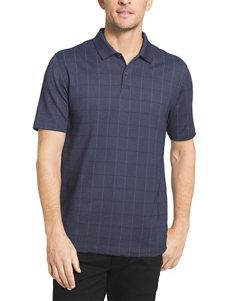 Van Heusen Big & Tall Windowpane Polo Shirt