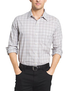 Van Heusen Grey Mirage Casual Button Down Shirts