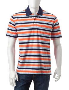 Sun River Abstract Block Striped Polo Shirt