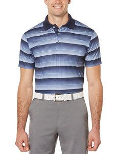 PGA Tour Heather Striped Polo Shirt