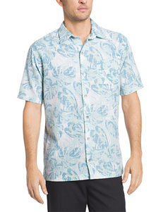 Van Heusen Big & Tall Oasis Leaf Print Woven Shirt