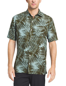 Van Heusen Big & Tall Oasis Palm Print Woven Shirt