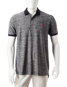 U.S. Polo Assn. Black Casual Button Down Shirts Polos