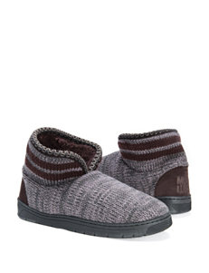 Muk Luks Striped Block Mark Slippers