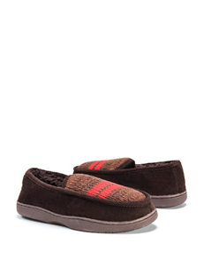 Muk Luks Striped Moccasin Slippers