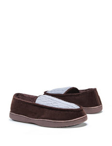 Muk Luks Cable Knit Moccasin Slippers