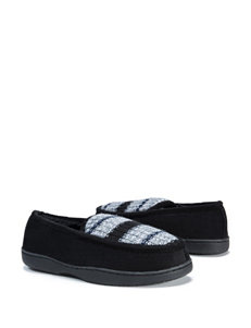 Muk Luks Henry Mocassin Marled Striped Slippers