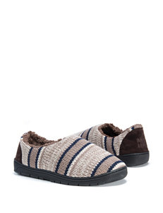 Muk Luks John Striped Slippers