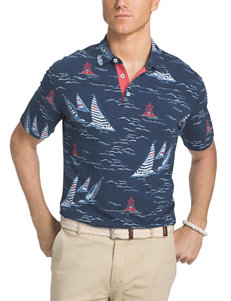 Izod Dark Blue Casual Button Down Shirts
