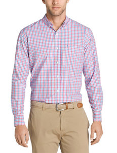 Izod Pink Casual Button Down Shirts