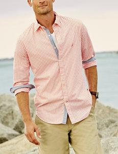 Nautica Coral Casual Button Down Shirts