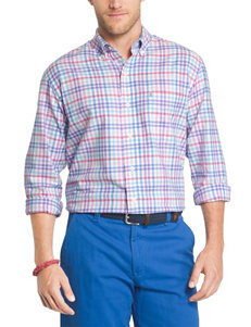 Izod Purple Casual Button Down Shirts