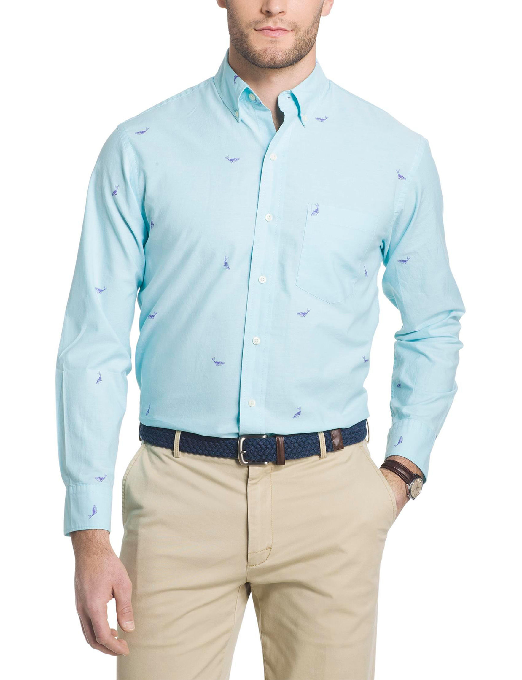 Izod oxford embroidered button down shirt stage stores for Izod button down shirts