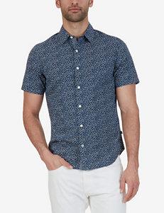 Nautica Navy Casual Button Down Shirts