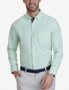 Nautica Green Casual Button Down Shirts