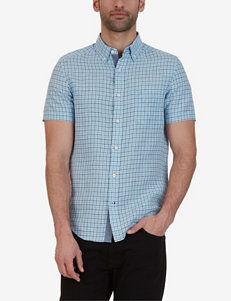 Nautica Light Blue Casual Button Down Shirts